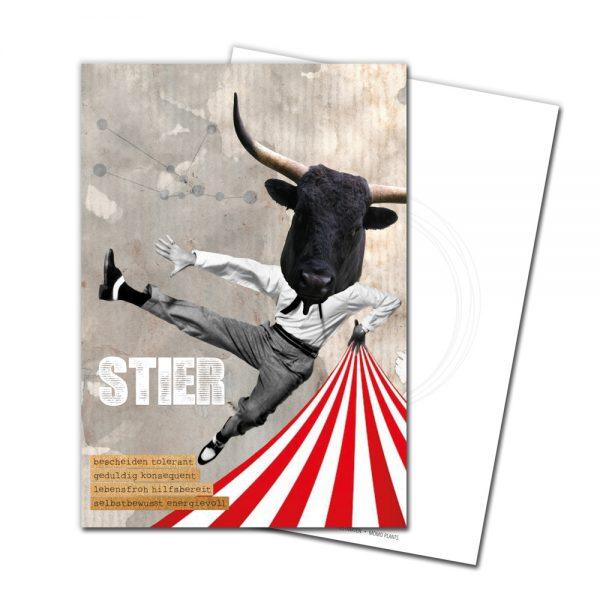 JUKA-Paperlove-Postkarte-Grußkarte-Postcard-Sternzeichen-Stier