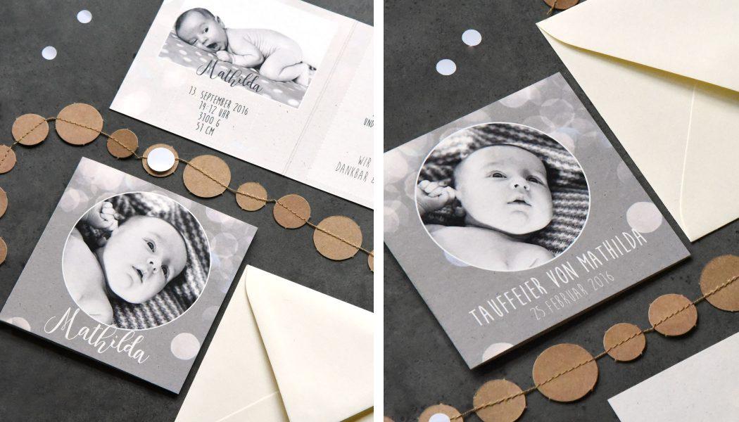 Geburtskarten und taufeinladungen von juka kinder set for Vintage geburtskarten