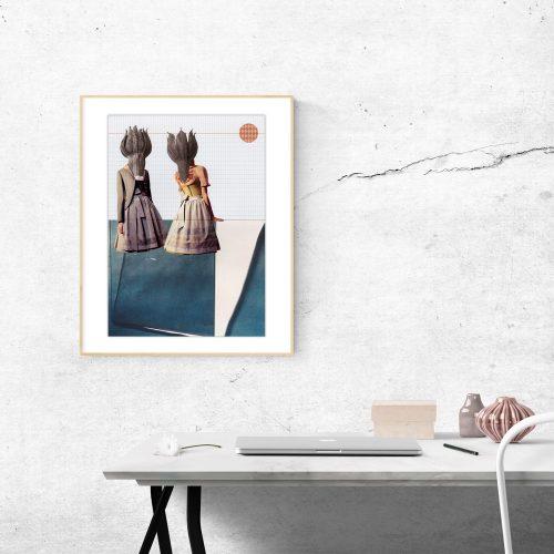 JUKA Paperlove Kunstdrucke für die Wand Collage